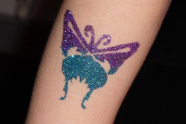 Glitter Art Temporary Tattoos
