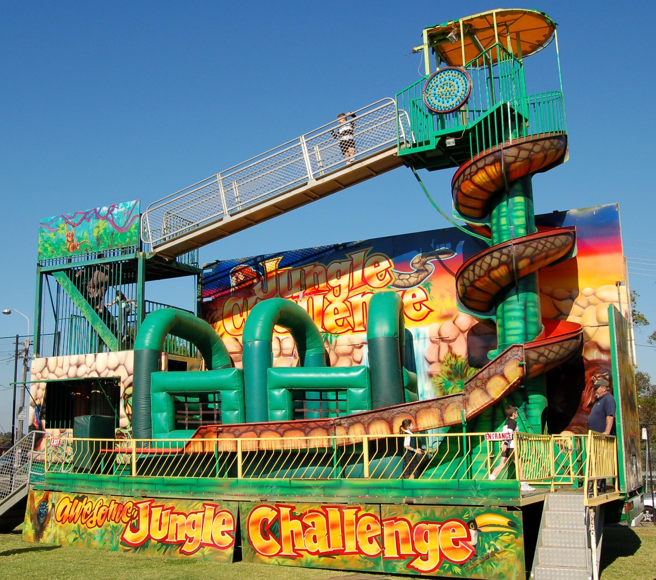Jungle Challenge Carnival Ride Hire Sydney