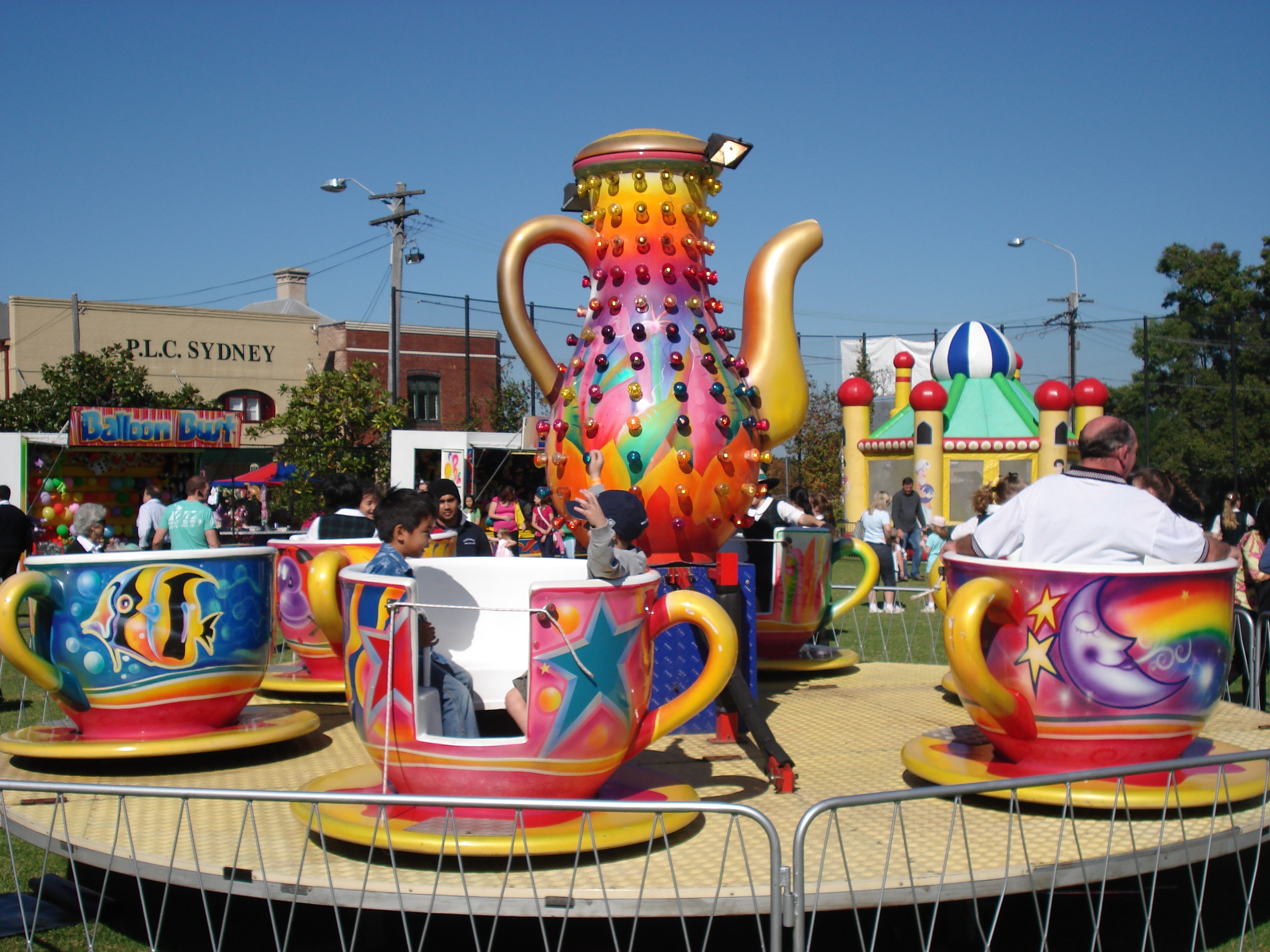 Tea Cup And Saucer Carnival Ride Hire Sydney A Classic
