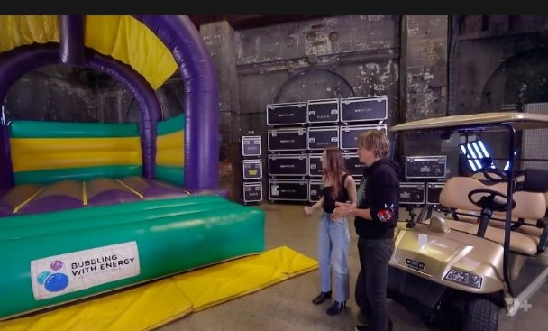 Keith Urban on a Jumping Castle